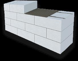 Стены из газобетона Bonolit, тонкошовная кладка